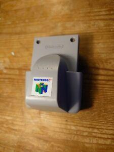 Official Nintendo 64 Rumble Pak N64 Grey Tested Working