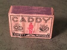 VERY EARLY ANTIQUE MATCHBOX GOLF CLUB CADDY TOBACCO NOT TIN ADVERTISING