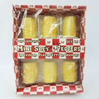 Boston Warehouse Set of 6 Ceramic Corn On The Cob Mini Salt and Pepper Shakers