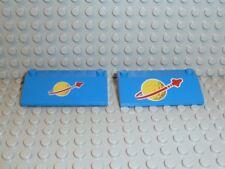 LEGO® Space Classic 2x Schrägstein blau Logo 3939p91 3939p90 928 924 928 K180