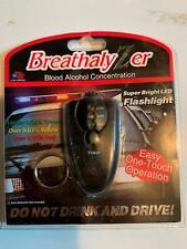 Breathalyzer Blood Alcohol Concentration Detector Keychain w/ Led Flashlight