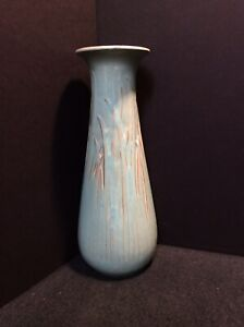 Vintage Selden Bybee Pottery Vase with Grass Decoration