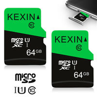 2 Pack 64GB Micro SD TF Card SDHC Class 10 Storage Memory Card for Phone Cameras