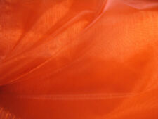 2m Metre Orange Sheer Organza Fabric 150cm Wide Wedding Party Quality FREE PP