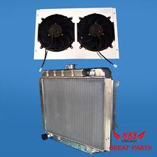 "KKS Aluminum Radiator & 12"" FANS 68-74 DODGE MOPAR BIG BOLCK 26"" CORE"