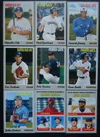 2019 Topps Heritage Minor League Toronto Blue Jays Base Team Set of 9 Cards