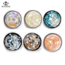 Fashion Acrylic Snap Button Charm 18mm Snap Necklace Bracelet Jewelry 6Pcs 1035