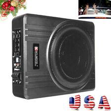8'' 600W Car Under-Seat Active Subwoofer Power Amplifier Bass HiFi Slim Speaker