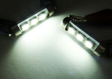 2x 6418 6411 6413 White 3 SMD LED License Plate Light No Error Festoon For FORD