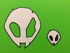 BMW S1000RR Alien Heads Decals Stickers for Helmet, bike etc Set of 4 #146A