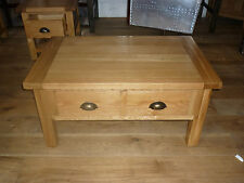 the new vancouver select oak 1 large drawer coffee table sal004 mirror image