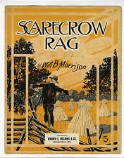 RAG RAGTIME Sheet Music 1912 Will Morrison Scarecrow Rag