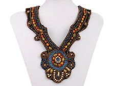 Tribal and Ethnic Inspired Chunky Beaded Design Fashion Bib Necklace