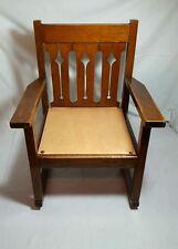Antique Arts & Crafts Era Rocking Chair Rocker Mission Oak Style