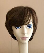 NWT! JACQUELYN Wig HUMAN HAIR Blend SANDRA 12-7 LIGHT BROWN  Monotop