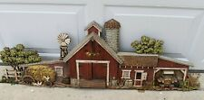Burwood Products 587 Farm Barn Car Windmill Silo Plastic Wall Hanging Vintage