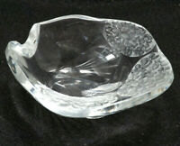 Lalique Crystal Small Ashtray Floral Design