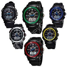 Reloj de Pulsera Reloj Deportivo Ejército para Hombres OHSEN Multifuncional Doble Zona Horaria Cuarzo