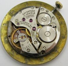 Aurore Villeret 423 17 jewels adj. Croton Nivada G. Cow watch movement for parts