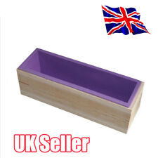 Wood Loaf Soap Mould with Silicone Mold Cake Making Wooden Box 1.2kg soap YP