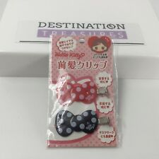 Hello Kitty Bow Polka Dot Hair Clips Red Black Set of 2 NIP Japan Exclusive 2013