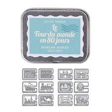 Bookmarks Paper Clip Marking Pages Le Tour du Monde en 80 Jours Set of 12