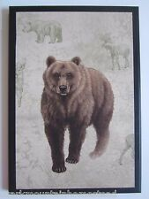 Bear Picture rustic country lodge wall decor plaque hunting cabin picture