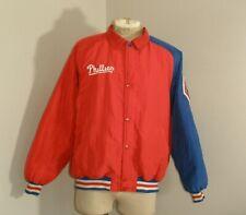 Vintage Starter Philadelphia PHILLIES Throwback Baseball SNAP Jacket USA MADE XL