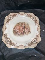 "Cracker Barrel Collectible Plate Deer In Winter Susan Winget Design 8"" Square"