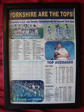 Yorkshire CCC 2015 County Champions - framed print