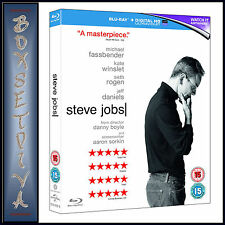 STEVE JOBS - Michael Fassbender & Kate Winslet *BRAND NEW BLU-RAY REGION FREE*
