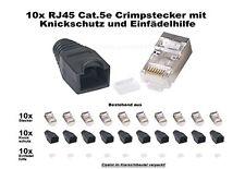 10x Crimpstecker Netzwerk Internet LAN Kabel geschirmt RJ45 Metall ummantelt