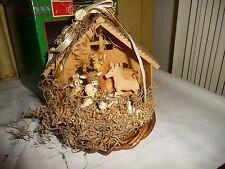 #1027 vtg Christmas Around the World DECORATIVE Animal NATIVITY w box AS IS