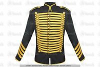 Men's Steampunk Military Golden Trim Style Hussar Parade Gothic Jacket