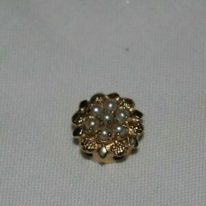 Vintage 14k Yellow Gold KLJCI Klein Pearl Slide Bracelet Charm 3.2 Grams