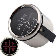 Alarm Gauge Meter Water Temperature Volt Oil Pressure Check Engine Fit Car Boat