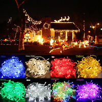 LED Fairy Curtain String Light Hanging Wall Lights Wedding Party Christmas Decor