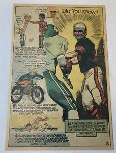 1971 cartoon page~EDDIE LaBARON Dallas Cowboys, LEW ALCINDOR Kareem Abdul-Jabbar