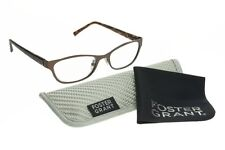 Foster Grant computadora Gafas de lectura Charlsie Marrón +2.00 multifocus RRP £ 34.99