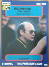 1990 AFL SCANLENS STIMOROL RICHMOND TIGERS KEVIN BARTLETT COACH #167 CARD