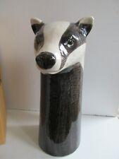 More details for   quail ceramic large size badger flower vase  boxed ideal gift