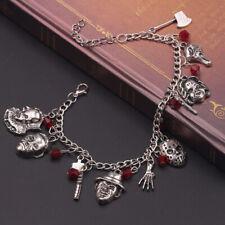 Halloween Horror Movie Charm skeleton Bracelet Gift Creepy Silver Alloy Gift