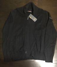 Ben Sherman Mens Full Zip Black Sweater Size Large