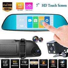 Cámara DVR coche DVR 7  HD 1080P con doble lente y espejo Cam Cam Recorder