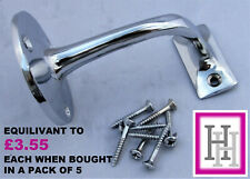 2-5 Chrome Handrail Bannister Support Stair Rail Bracket Fixing Wall Mounted D7