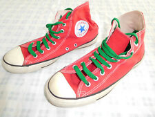 Vintage Converse Chuck Taylor Red Size 8 Made USA Hi High Top
