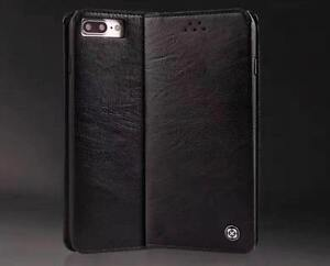 Stylish Luxury Wallet Leather Case Book Shape Cover for Apple iPhone 7 8 - Black