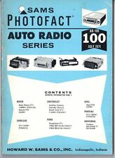 Sams Photofact-Auto Radio Manual/#AR-100/First Edition-First Print/1971