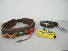 Buckingham Lineman Belt (32), Positioning Strap & Miller Positioning Lanyard