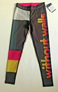 New WITHOUT WALLS Women Rainbow Logo Yoga Activewear Leggings Tights S Free Ship
